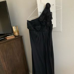 ABS Collection Black One Shoulder Gown - Size 6